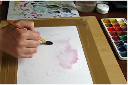 Во первых сделаем рисунок розы